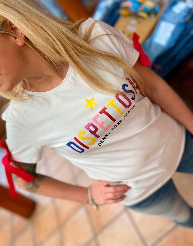 Camiseta mujer original DENNY ROSE DISPETOSA y lazo incorporado