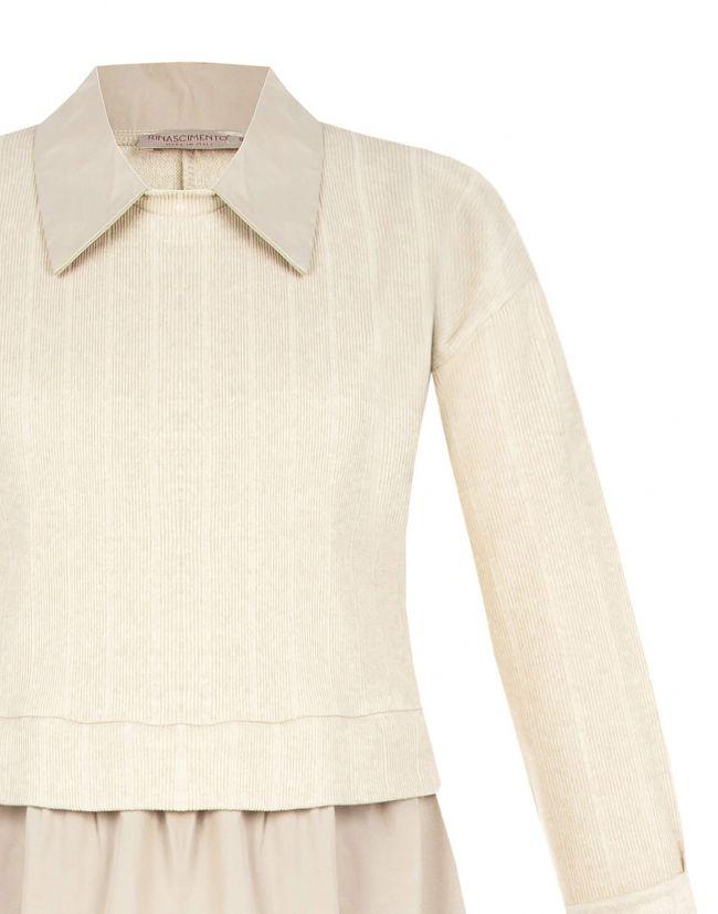 Vestido RINASCIMENTO corto beige efecto dos piezas
