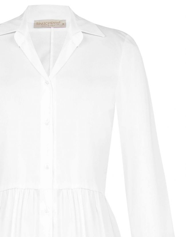 Camisa RINASCIMENTO blanca larga