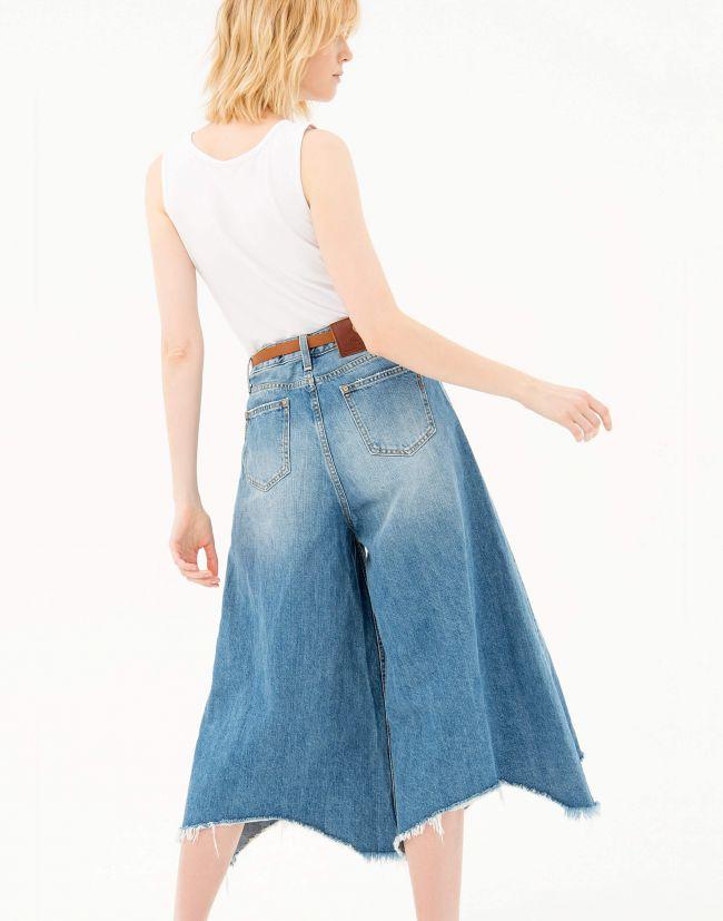 Pantalones vaqueros mujer cropped campana FRACOMINA
