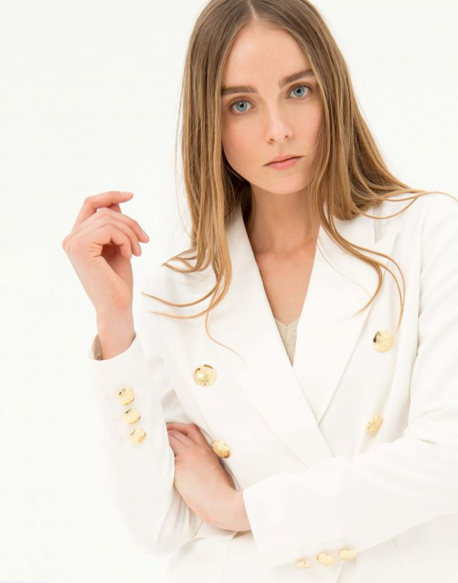 Blazer blanca mujer con doble botonadura de FRACOMINA