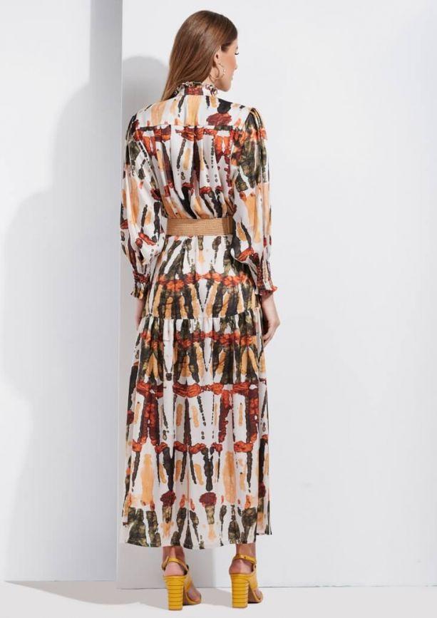 Vestido de mujer largo con estampado SAHOCO