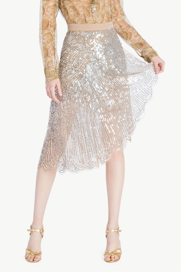 Falda en pailletes de TWINSET