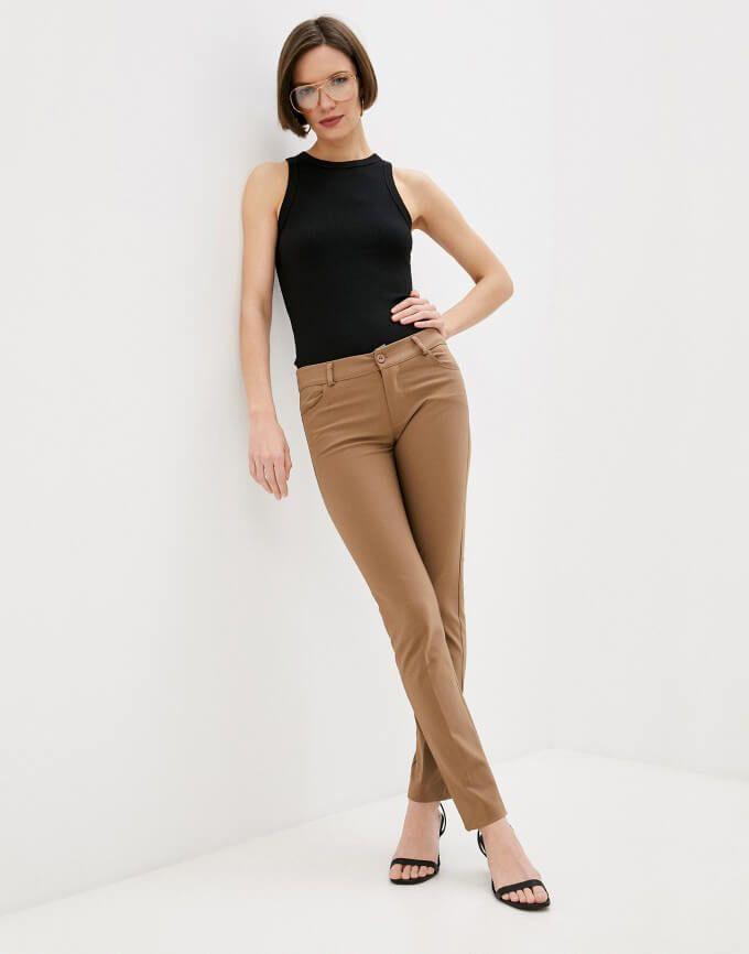Pantalones Mujer Cintura Alta Ajustado Rinascimento